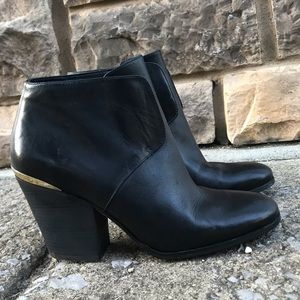 Cole Haan, black leather ankle boots